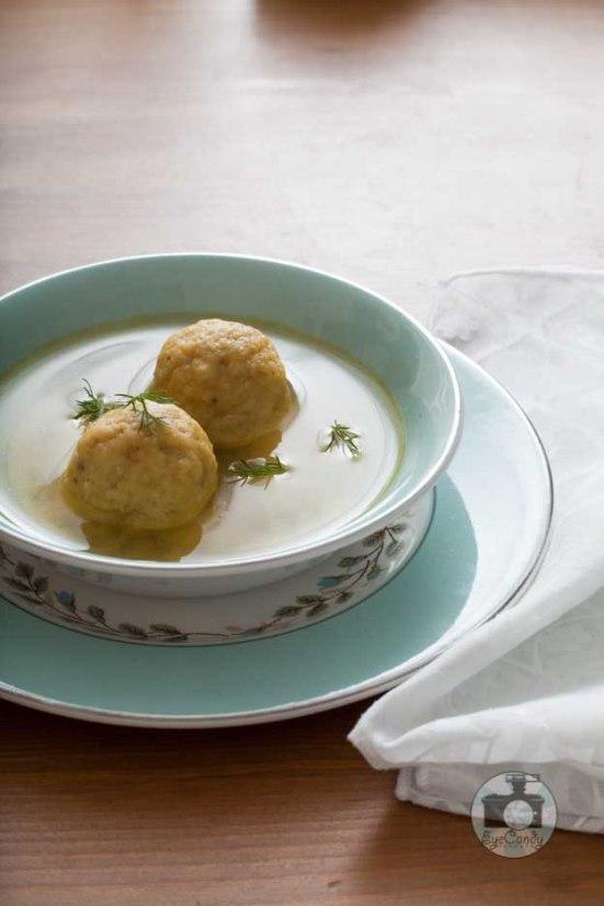 Abe's comfort food Matzo Balls Soup.